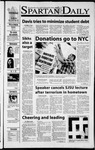 Spartan Daily, September 20, 2001 by San Jose State University, School of Journalism and Mass Communications