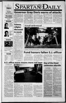 Spartan Daily, November 2, 2001 by San Jose State University, School of Journalism and Mass Communications