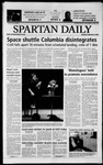 Spartan Daily, February 3, 2003 by San Jose State University, School of Journalism and Mass Communications