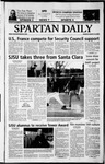 Spartan Daily, March 10, 2003