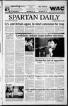 Spartan Daily, March 12, 2003 by San Jose State University, School of Journalism and Mass Communications