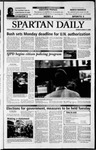 Spartan Daily, March 17, 2003 by San Jose State University, School of Journalism and Mass Communications