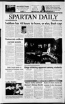 Spartan Daily, March 18, 2003 by San Jose State University, School of Journalism and Mass Communications