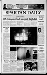 Spartan Daily, April 7, 2003 by San Jose State University, School of Journalism and Mass Communications