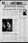 Spartan Daily, September 11, 2003 by San Jose State University, School of Journalism and Mass Communications